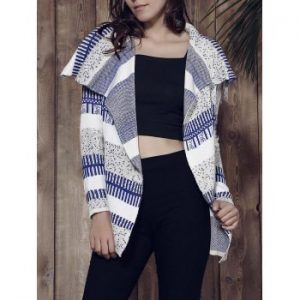Long Sleeve Knitted Irregular Loose Fitting Cardigan