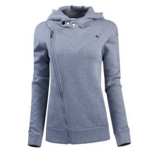 Long Sleeves Solid Color Hoodie For Women