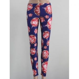 Stretch Snowflake Print Leggings