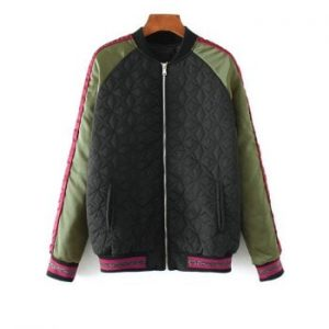 Embroidered Quilted Bomber Jacket