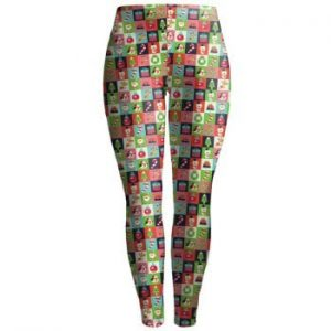 Christmas Checked Ankle Leggings