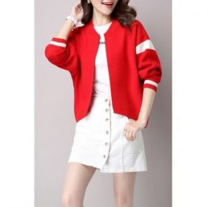 Open Front Knitted Bomber Jacket