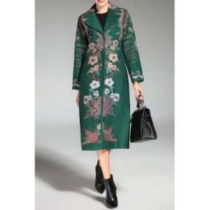 Single Breasted Embroidered Coat