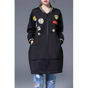 Zip Applique Coat