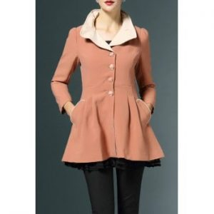 Layers Fitting Skirted Coat