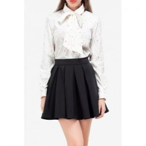 Bow Tie Printed Blouse