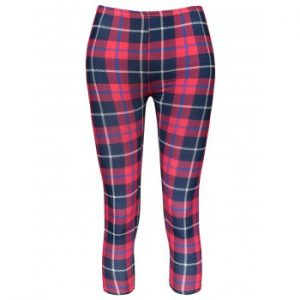 Plaid Bodycon Elastic Waist Leggings