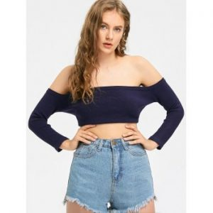Off The Shoulder Knitted Top