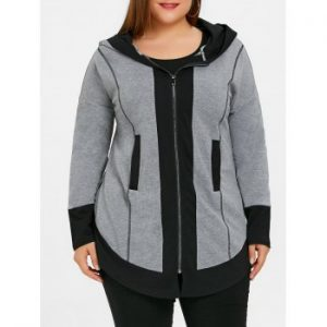 Plus Size Two Tone Dolphin Hoodie