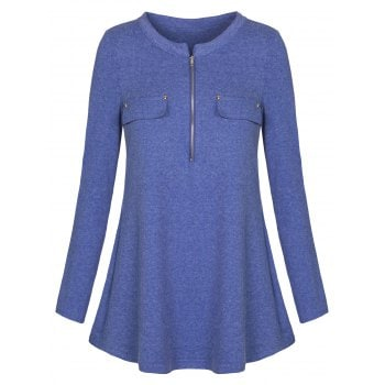 Zipper Tunic T shirt