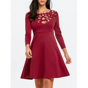 Cut Out Skater Party Dress