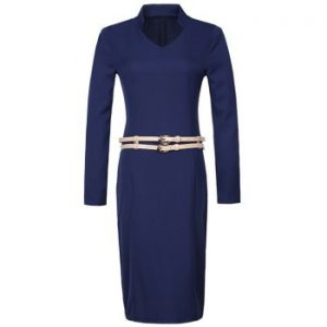 Long Sleeve Fitted Pencil Dress