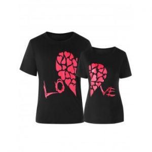 Valentines Day Matching Couple Short Sleeve T shirt