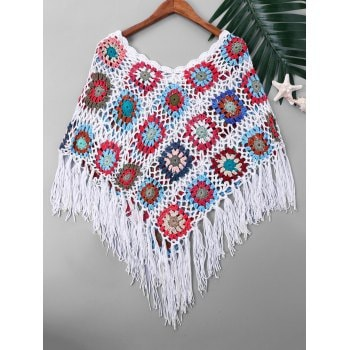 Tassel Cape Cover Up
