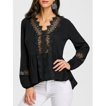 Hollow Out Blouse