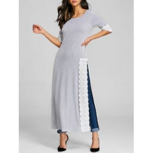 High Slit Maxi T shirt