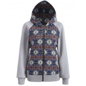 Zip Through Tribal Hoodie