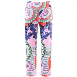 Elastic Waist Printed Loose Fitting Exumas Pants
