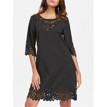 Hollow Out Mini Dress