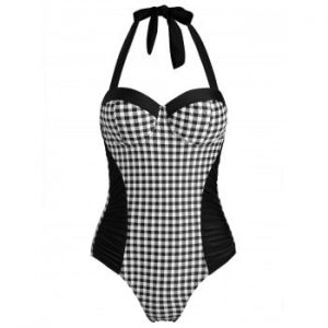 Plaid One piece Swimsuit