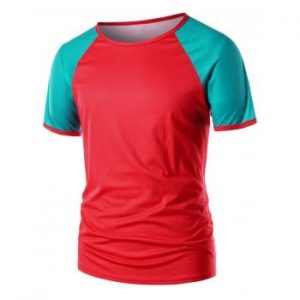 Color Block Raglan Sleeve T shirt