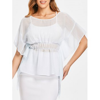 Empire Waist Peplum Blouse
