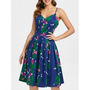 Spaghetti Strap Floral Dress
