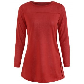 Buttoned Side T shirt