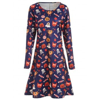 Halloween Print Dress