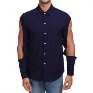 Solid Cut Out Button Up Shirt