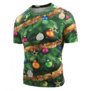 Christmas Baubles Printed T shirt