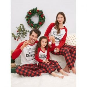 Christmas Letter Family Pajamas