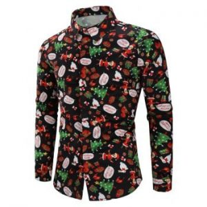 Christmas Animal Gifts Printed Long Sleeves Shirt