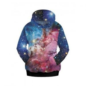 Women Fashion Galaxy Print Sweatshirts Hooded Top