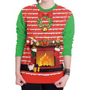 Christmas Ugly Sweater   Xmas Party Women Sweatshirt New Style