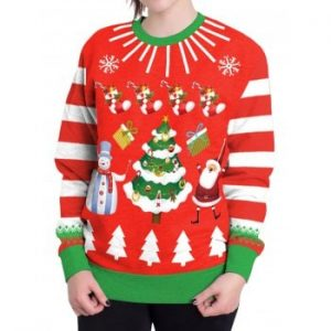 Unisex Funny Print Ugly Christmas Sweatshirts Jumper New Style