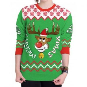 Christmas Ugly Sweater Humping Reindeer Funny Sweatshirt