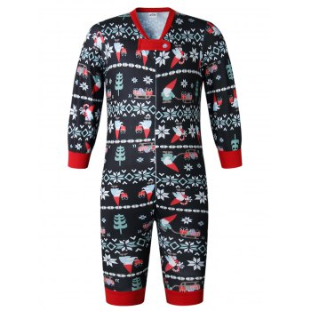 Christmas Long Sleeves Casual  Print Family Pajama Sets Parent Child Home Suit Pyjamas