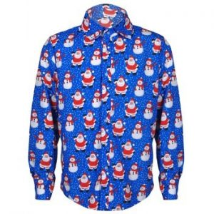 Christmas Cartoon Printed Men Shirt