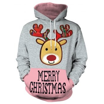 Christmas Women s Loose Casual Hoodies
