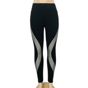 Stylish Luminous Side Laser Stripe Women s Dance Sports Fitness Yoga Pants