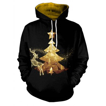Fashion Women s Fantasy Christmas Elk Hooded Hoodies