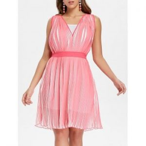 Pleated Dress with Spaghetti Strap Dress