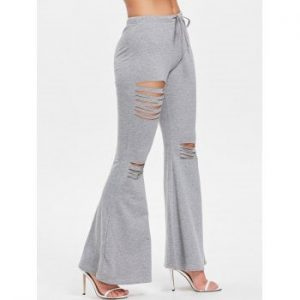 Ripped Flare Pants