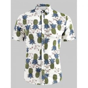 Pineapple Print Short Sleeve Shirt