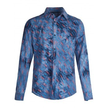 Tie Dye Rectangle Printed Casual Shirt