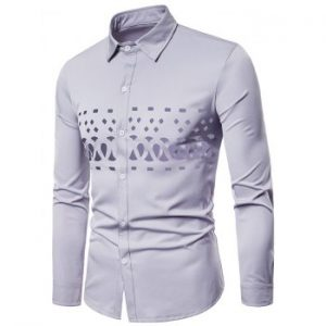 Openwork Solid Color Long Sleeve Shirt