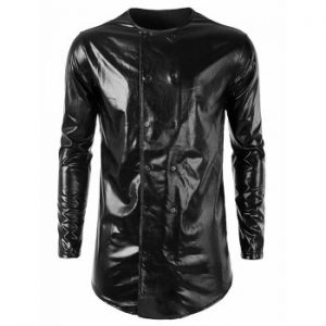 Costume Double Breasted Shiny Shirt