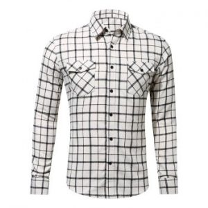Button Up Casual Checked Shirt