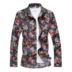 Flower Printed Long Sleeves Shirt